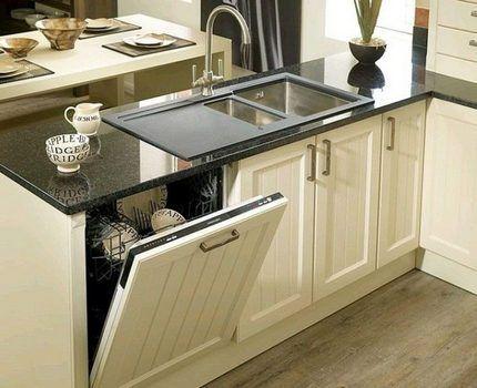 Посудомойка, встроенная в мебельный гарнитур