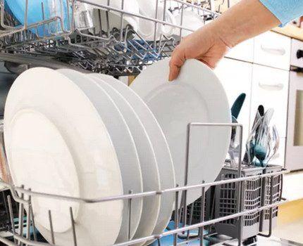 Посудомоечная машина в полной загрузке