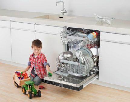 Уровень шума посудомойки