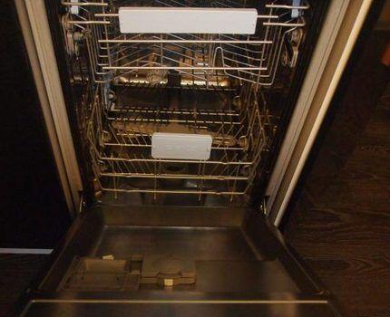 Внутреннее обустройство посудомойки