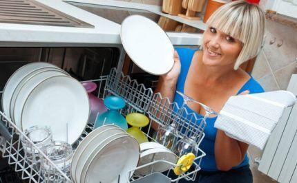 Сушка посуды полотенцем