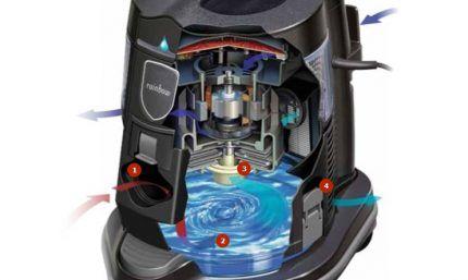 Схема работы сепараторного аквафильтра