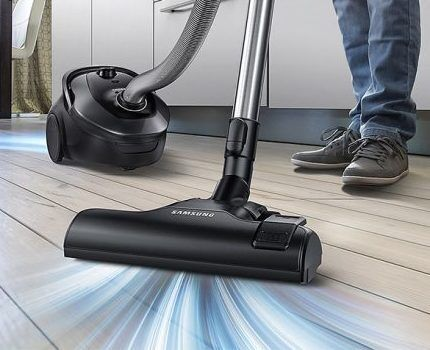 Шум пылесоса Samsung