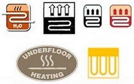 Marking flooring for underfloor heating