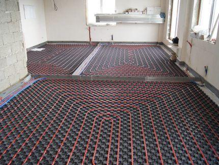 Profile floor mats