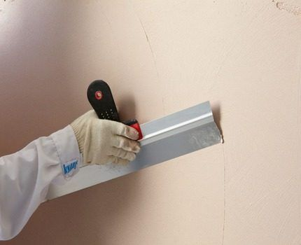 Putty for painting walls