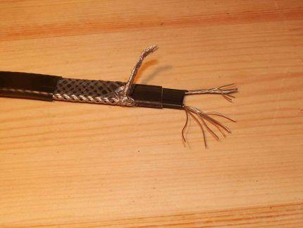 Устройство греющего кабеля