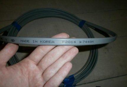 Маркировка греющих кабелей