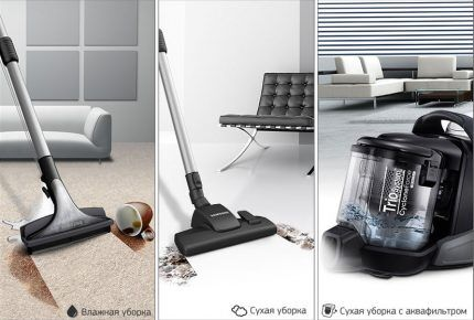 Triune cleaning system