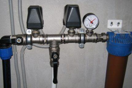 Реле давления на водопроводе