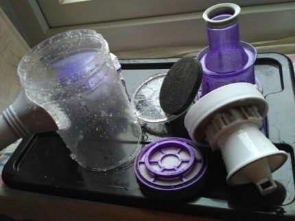 Washed Vacuum Cleaner Parts
