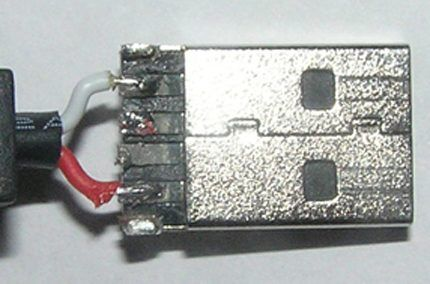 Распайка USB под питание