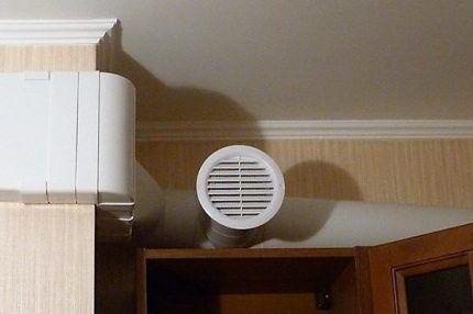 Вентиляционный канал в помещении