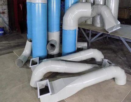 Круглые пластиковые воздуховоды