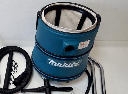 Бак пылесоса Макита с мешком для пыли