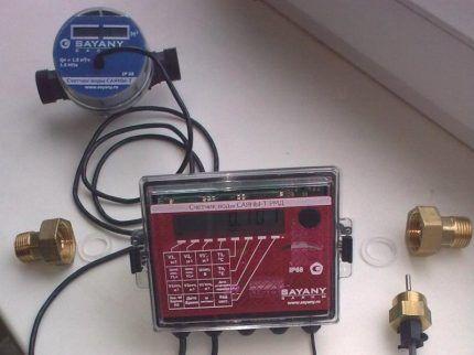 Счетчик с термодатчиком