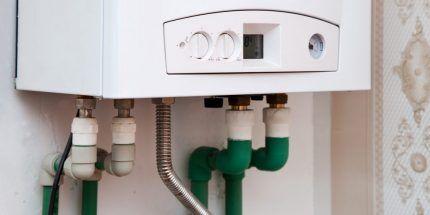 Место подключения газовой колонки