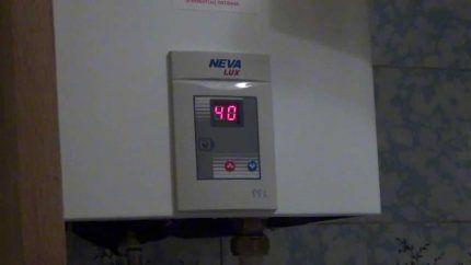 Дисплей газовой колонки