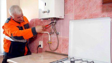 Ремонт газового настенного водонагревателя