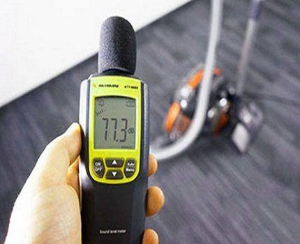 Измерение шумности пылесоса
