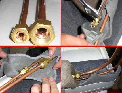 Трубки для фреона в сплит-системе