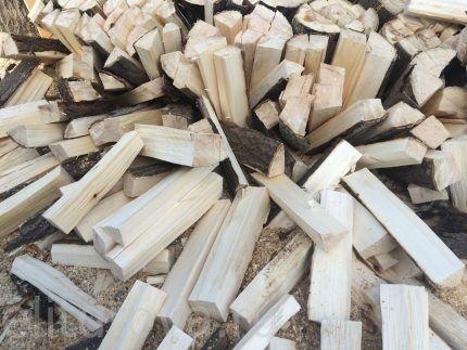 Обычные дрова из осины для чистки