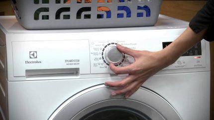 Выбор режимов стиральной машинки