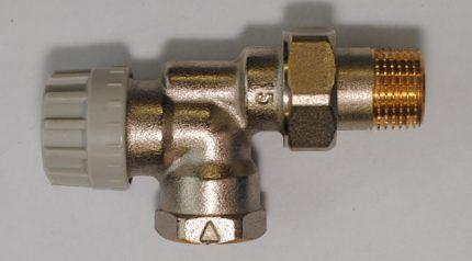 Обычный термостатический клапан