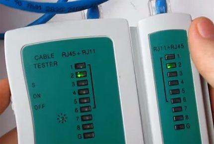 Тестирование сетевых кабелей
