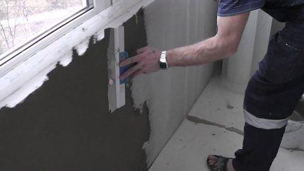 Выравнивание поверхности стены