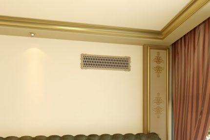 Вентиляционная решетка в интерьере