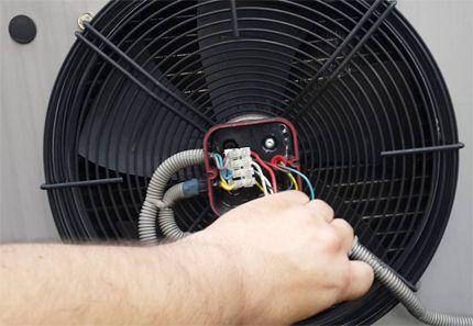 Вентилятор блока остановлен