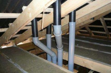 Вентиляция из канализационных пластиковых труб