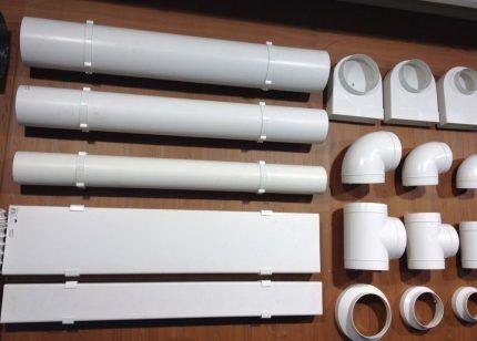 Разновидности пластиковых воздуховодов