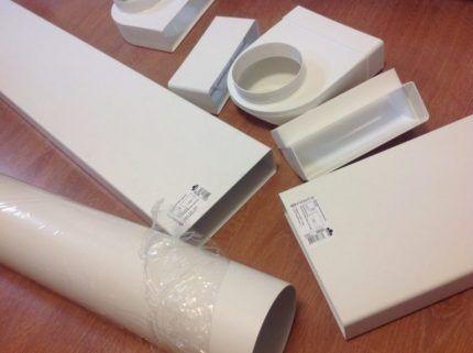 Четырехугольные пластиковые трубы для вентиляции