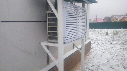Сплит-система зимой