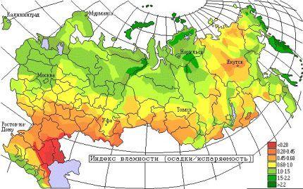 Карта влажности