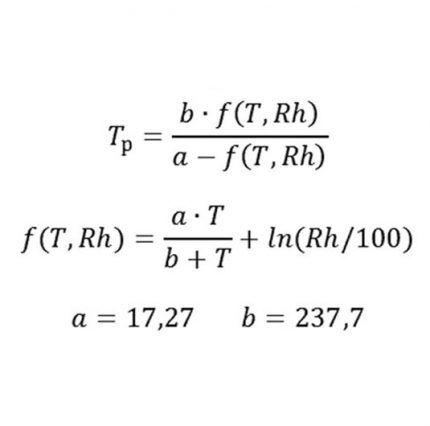 Формула точки росы