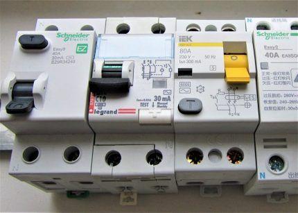 Электромеханические УЗО для квартиры