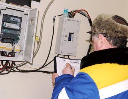 Сверка показаний счетчика электроэнергии