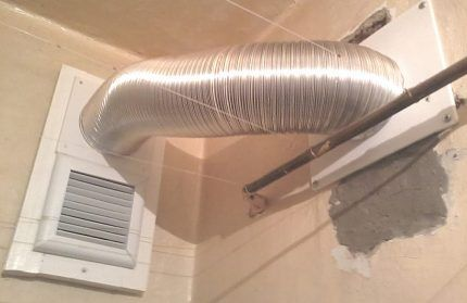Обустройство системы вентиляции