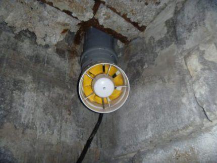 Вентилятор для цоколя