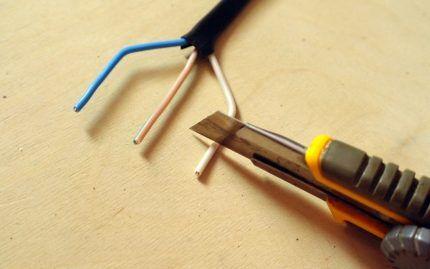 Зачистка кабеля