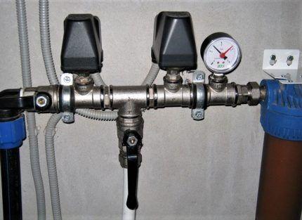 Реле установлено в трубопровод