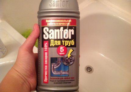 Гель для промывки труб Sanfor