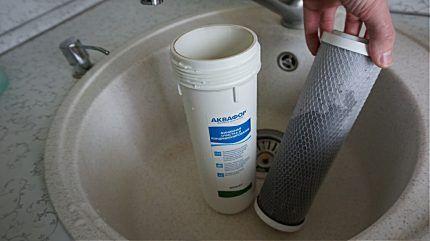 Очистной фильтр в раковине