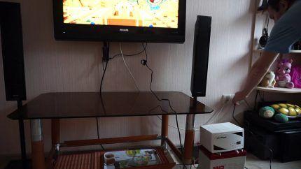 ИБП подключен к телевизору