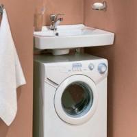 Раковина-кувшинка: советы по выбору и по установке при расположении над стиральной машиной