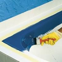 Покраска ванны своими руками с применением эпоксидной эмали и жидкого акрила