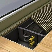 Водяные внутрипольные конвекторы отопления: виды, особенности, технические характеристики